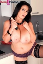 Cumming In The Kitchen With Arianna